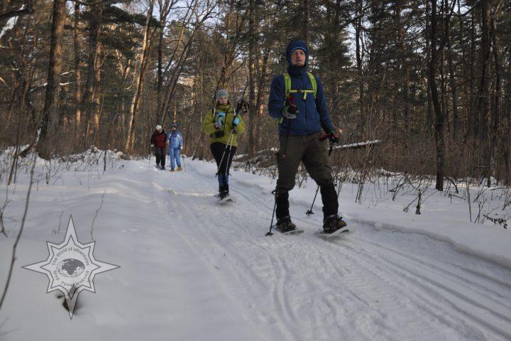 Прогулка на снегоступах, активный отдых