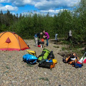 Vaude Space K2 и лагерь