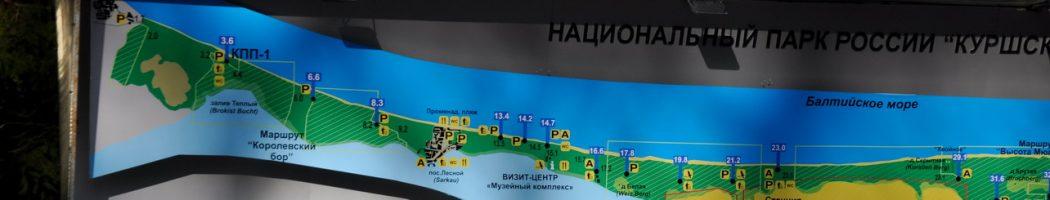 Карта национального парка Куршская коса