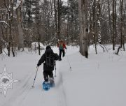прогулки на снегоступах, семейный отдых
