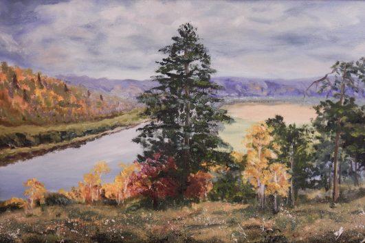 картина, осенний пейзаж