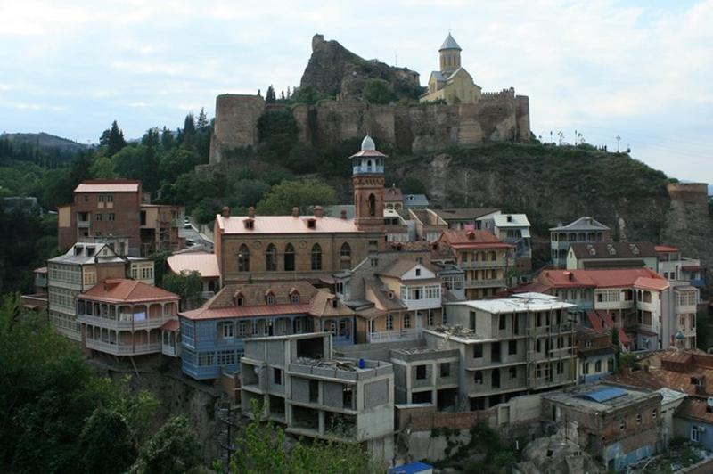 Район Абанотубани и крепость Нарикала, старый Тбилиси