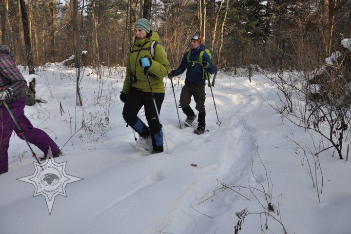 Прогулка на снегоступах