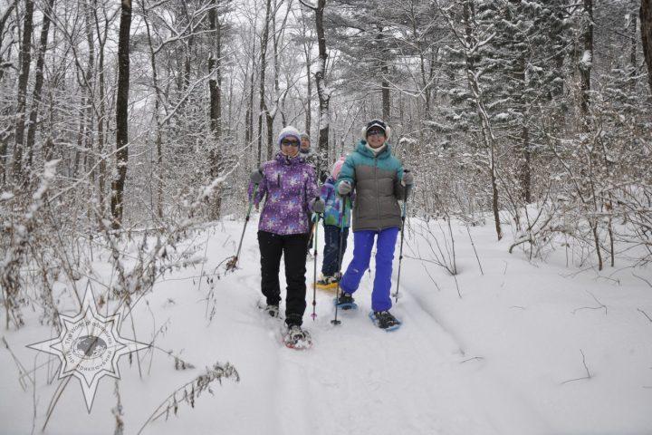 Прогулка на снегоступах, мир приключений