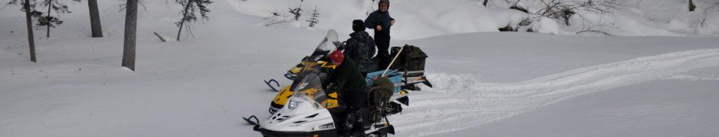На снегоходах на Дуссе-Алинь